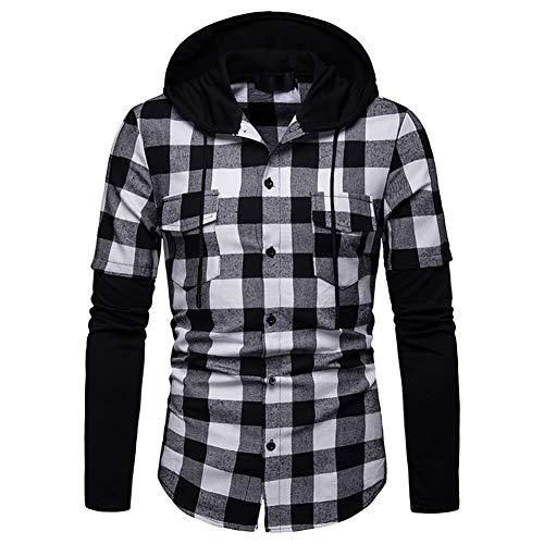 Blusa Hombre Camisetas Cuadros Ocasionales Jersey