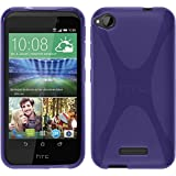 PhoneNatic Case für HTC Desire 320 Hülle Silikon lila, X-Style + 2 Schutzfolien
