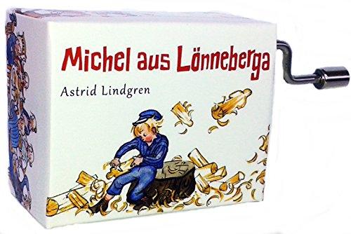 Michel aus Lönneberga Spieluhr Mini Drehorgel Michel war ein Lausejunge Kurbelwerk (Sitzt auf Baum)