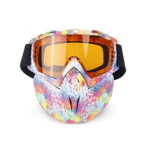 Aeici Sportbrille TPU+PC Sportbrille Damen Polarisiert Radsportbrille Polarisierend Stil B