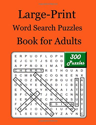 Large-Print Word Search Puzzles Book for Adults: Exercise your brain and fill your heart with Enjoy spirit