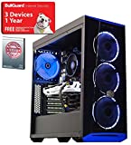 ADMI Intel GAMING PC - Intel Core I5 7400 3.5Ghz Quad Core CPU, GTX 1050 Ti 4GB Graphics Card, 8GB 2400MHz DDR4 RAM, 240GB Solid State Drive, Coolermaster Masterbox 5.1 Blue LED Gaming PC Case