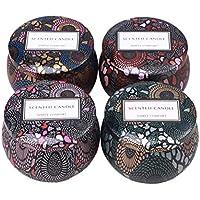 Vosarea Velas perfumadas portátil romántico–Vela de Cera de Soja para Bodas Aromatherapy Viaje 4pcs