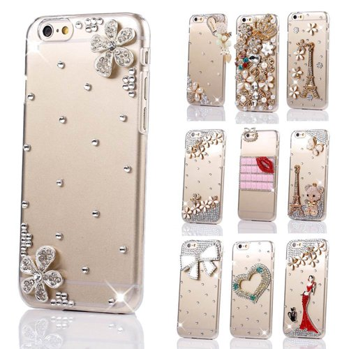 Semoss 3d bling strass fiori custodia trasparente in - Accessori bagno plexiglass amazon ...