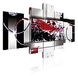 Dekoarte 86 - Cuadro moderno en lienzo 5 piezas estilo abstracto en tonos...