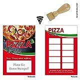 Premium Pizza Pasta Bonus Tarjetas 100unidades con 10sellos Campos Y sellos. Tarjetas de fidelidad apto para áreas como Gastronomía, restaurante, comercio de vino, bebidas Comercio, ocio, Fiesta, regalo, Posada de pastelería