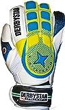 Derbystar Herren Attack XP 12 Torwarthandschuhe, Weiß/Blau/Gelb, 1