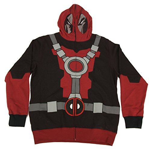 Hoodie Kostüm Deadpool - Marvel Deadpool Mr. Pool Kostüm Hoodie Sweatshirt (XX-Large)