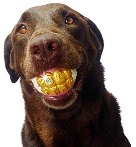 Humunga Moody Pet Hundespielzeug Bling Rock Star Zähne Form Ball Spielzeug für Mittelgroße und Große Hunde -