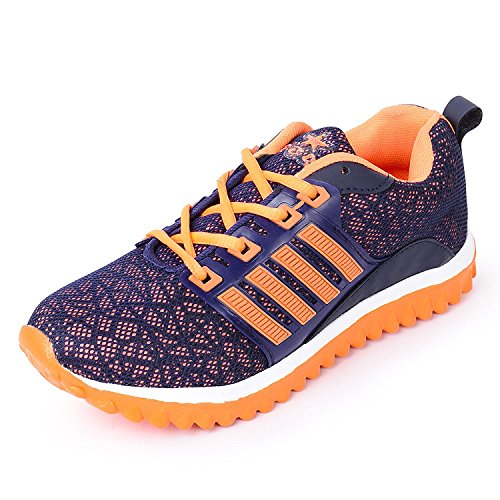 new latest fashionable WOMEN'S BLUE AND ORANGE MESH RUNNING SHOES trail casual fitness Running Outdoor Multisport Training Safety Trekking Hiking camping Exercise morning walk/walking and gym Fitness Shoe /footwear/ foot wear FOR girls/ girl/ girl's /women /womens BY SHOES 20 (5)