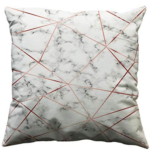 Feytuo Leinen minimalistischen geometrischen Kissenbezug, Wohnaccessoires Dekoration, Kissenbezüge 45 x 45 waschbar abnehmbare Reißverschluss