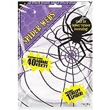 Stretchable Spiders Web White - 1 spider included 240084 (accesorio de disfraz)