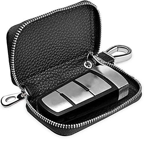 Alintor Strahlenschutz Tasche für Wagen Schlüssel, RFID Blocking Hülle für autoschlüssel, Entry Open Go Diebstahl Schutz Kein Signal Abfangen (Schwarz)