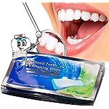 CkeyiN ® Dientes Tiras de Blanqueamiento Gel para el Cuidado Bucal Higiene Dental para Blanquear los Dientes que Blanquean Herramientas,14*2pcs/set