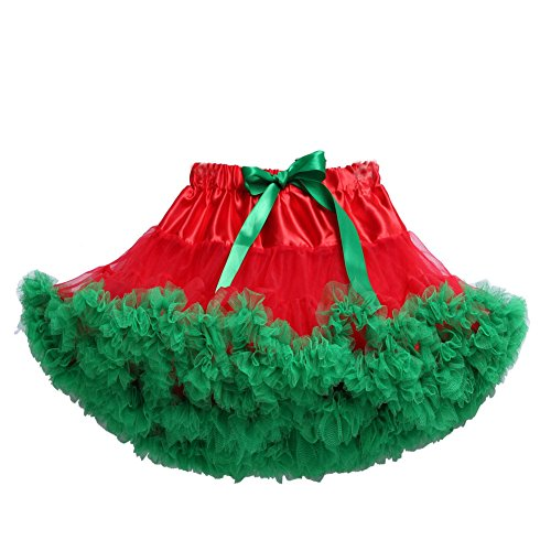Tortoise & Rabbit Erwachsene Damen Flaumig Ballett Tanzkleidung Tütü Pettiskirt Mini Tutu Rock Skirt (Rot (Tutu Grün Erwachsene)
