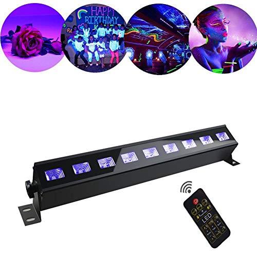 WuZhong W Illuminazione UV, LED UV Blacklight UV LED Effetto Luce Par luci da palcoscenico Luci da palcoscenico LED Par luci per Bar Feste Compleanni Negozi Feste Nuziali 9 LED 27W