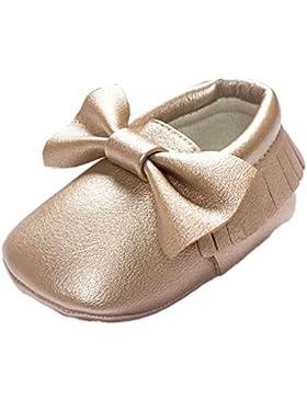PU-Leder Krabbelschuhe Lauflernschuhe Baby Schuhe Krippe Quasten Bowknot Schuhe Kleinkind Sneakers rutschfeste...