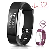 Smart Watch Wasserdicht IP67 Activity Tracker mit Herzfrequenz Monitor - Fitness Tracker 2,4 cm OLED-Bildschirm Bluetooth 4.0 Schrittzähler Smartwatch Wireless USB Ladekabel Armband