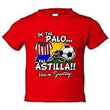 Camiseta niño De tal palo tal astilla Sporting fútbol - Rojo, 3-4 años
