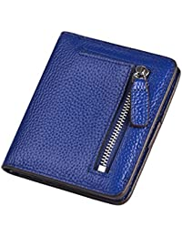 Charming Tailor Women Rfid Blocking Wallet Compact Leather Pocket Wallet Small Bifold Credit Card Holder