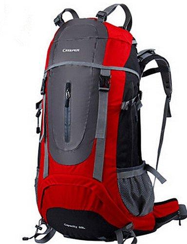 HWB/ 60L L Rucksack Camping & Wandern / Reisen Draußen Multifunktions Rot / Blau / Hellgrün Nylon ??? Green