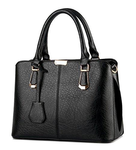 Alidier Neue Marke und Qualität Mode neue Welle Paket Kuriertasche Damen weiblichen Beutel Handtaschen für Frauen Handtasche Schwarz (Handtasche Neue Frauen)