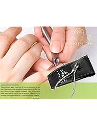 """CANDURE® - Coupe-ongles pince à cuticules pour manucure et pédicure en acier inoxydable. 4,5"""" (11,43 cm) - meilleur pour les ongles incarnés - et cuticules - CE approved"""