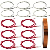 AFUNTA 12 x 40 W 620 Keramik-Kartusche Heizung und NTC-Thermistor 100K 3950 Fit 3D-Drucker & hitzebeständiges Polyimid-Klebeband für elektrische Aufgaben – Rot & Weiß
