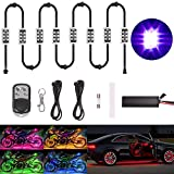 Goodway 8 Pcs Kit luce a LED Multicolore Telecomando senza fili Automobile Atmosfera moto Luci al neon RGB Breath Mode Luce effetto terra 2018 Nuovo design