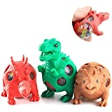 AK Stress Relief Dinosaur Character Slimy Color Changing Jelly Type Mesh Morph Balls Set Of 3