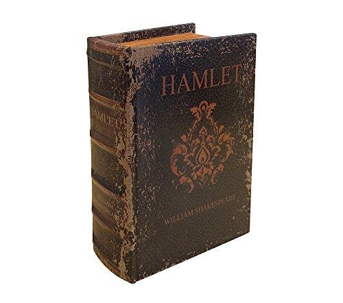 zeitzone Hohles Buch Geheimfach SHAKESPEARES HAMLET Buchsafe Antik-Stil 15cm