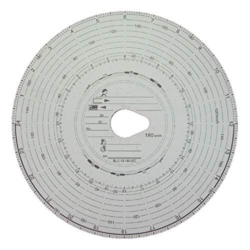 5 Packungen Tachoscheiben Diagrammscheiben bis 180 km/h Tachoblatt Kontrollscheiben 180-24 Fahrtenschreiberscheiben Tachographen