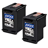 Jofoce Remanufacturéd HP 302 302XL cartouches d'encre (2 Noir), Compatible avec HP DeskJet 1110 1115 2130 2132 3630 3632 3633 3635 OfficeJet 3830 3831 3832 4651 4652 4654 Envy 4520 4521 4522 4526 4527 4528 Imprimante