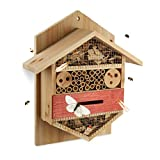 Relaxdays Insektenhotel sechseckige Nisthilfe für Bienen