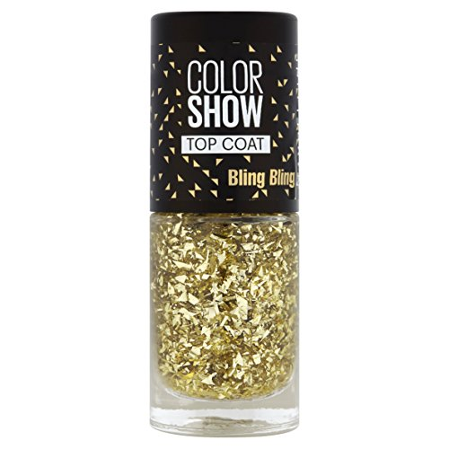 Gemey Maybelline Colorshow - Top Coat - 95 BLING BLING - Paillettes dorées