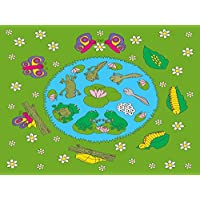 Be-Active Giant Frog & Butterfly Lifecycle Classroom Size Playmat (200 x 150cm)