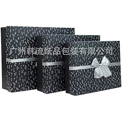 La Korean Wave box regalo rettangolo confezione regalo piccolo motivo floreale confezione regalo grande confezione regalo ,33 * 26,5*10cm, con motivi floreali