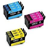 IKONG Kompatibel für Druckerpatrone Epson T1282 T1283 T1284, Hohe Ausbeute, 9 Packungen, Arbeiten mit Epson Stylus SX235W SX230 SX125 S22 SX130 SX420W SX425W SX430W BX305FW BX305F SX440W Drucker