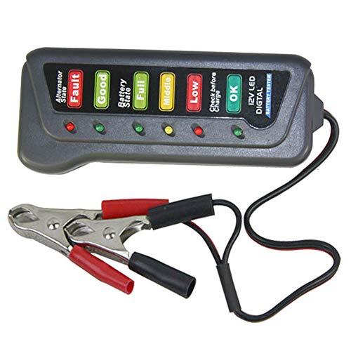 L-DiscountStore 12V Autobatterie-Tester, Multi-Funktions-Indikatoren Tester für Auto-Motorrad-Generator