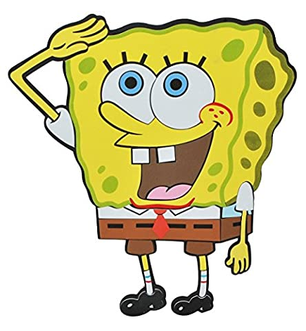 3-D Wandtattoo / Wandbild / Türschild - XL Spongebob Schwammkopf aus Moosgummi - Robert Fisch Wandsticker Wanddeko für Kinderzimmer Kind Kinder Deko (Spongebob Bilder)