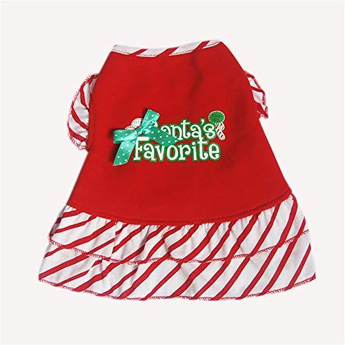 Oipoodde Haustier-Kleidung Niedlichen Haustier Streifen Weihnachten Rock