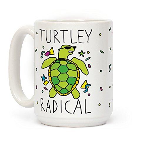 TURTLEY Radical weiß 15Unze Keramik Kaffee Becher von lookhuman -