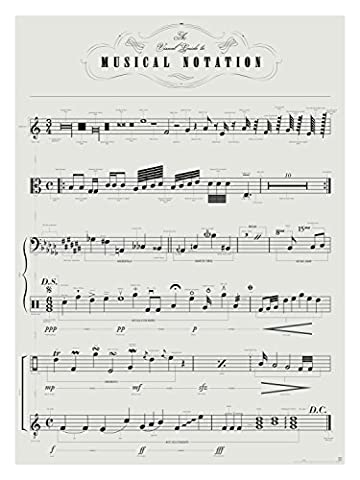 Sheet Music Poster Art Print - A Visual Guide to Musical Notation Poster 18 X 24 Print By Pop Chart Lab