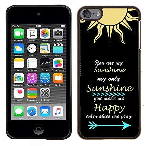 SaiCase Schutzhülle für iPod Touch 5 / Touch 6 (Hartschale, zum Aufstecken) Your My Sun Shine