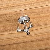 Design Dreifachhaken Kleiderschrank Garderoben-Haken drehbar Kleiderhaken aus Metall - ROTAR | 3-fach Drehhaken | Stahl verchromt poliert | Höhe: 43 mm | Möbelbeschläge von GedoTec®