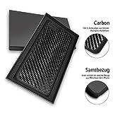 iPhone 7 Plus Carbon Hülle aus Echtcarbon Case mit Mikrofaser in Schwarz höchste Qualität von...