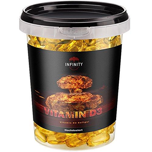 750 Kapseln Vitamin D3, 5000 I.E. - 1000 I.E. pro Tag / Hochdosiert, Deutsche Herstellung / für Knochen, Zähne & Immunsystem