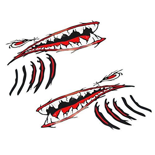 Le agradecemos su apoyo y esperamos sinceramente que tenga la experiencia de compra más conveniente en nuestra tienda BAOSITY.           Descripción:       - Pedazos de tiburón de 2 piezas para boca de tiburón con ojos rojos y hendiduras bran...