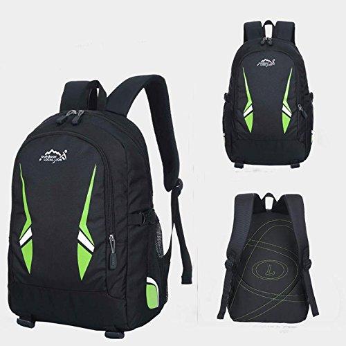BM Outdoor Zaini per uomini e donne sport tempo libero borsa scuola borse borse a tracolla , blue Green