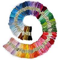 NiceButy 1 colorido conjunto seda del bordado Material Punto de Cruz Temas de arte DIY (50 en color) Herramientas y decoraciones
